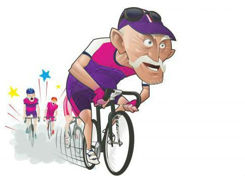 old_cyclist_-_bursting_through-purple-pink-graded